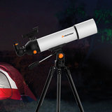 CELESTRON SCTW-80 200X HD Zoom Refractive Astronomical Telescope 80mm Caliber Red Dot Finder High Magnification Space Monocular_
