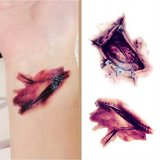 Halloween Fake Scab Scary Make-up Zombie Scars Tattoos Terror Wound Enge Bloody Sticker_