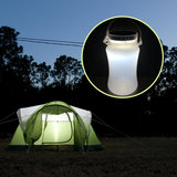 Outdoor Fishing Folding Solar Light IPX7 Waterdichte Powered LED Lantern Silicone Fles_