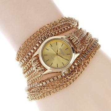 SLOGGI Retro Zinc Alloy Three Times Around Bracelet Quartz Watch voor vrouwen