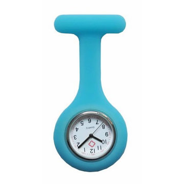 Colorful Silicone Doctor Fob Watch Pocket Nurse Horloges met gesp