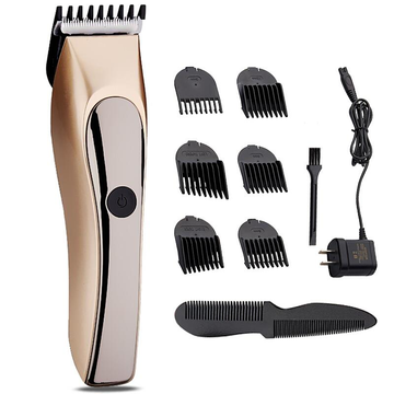 JINDING Oplaadbare Hair Clipper Wasbare Trimmer Bread Shaver Grooming Men Kind 110-240V