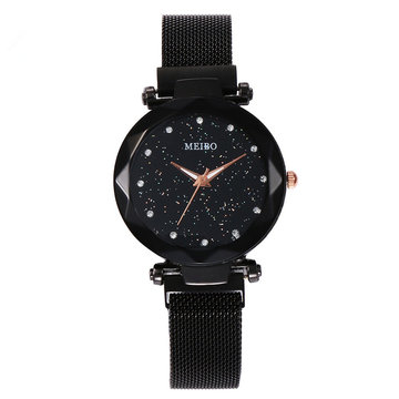 Damesjurk Star Magnetic Band Fashion luxe wijzerplaat dames quartzhorloge