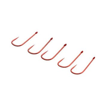 ZANLURE 10PCS Barbless Red Fishing Hooks Enkele Fishing Hooks