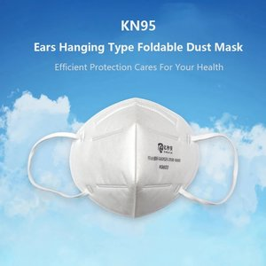 10Pcs KN95 FFP2 3D Foldable Face Mask Fabric Dustproof Non-woven Air Filter Breathing Protective Mask