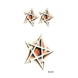 10st Halloween Tattoo Stickers Maak de mysterieuze Five Pointed Star Puncture