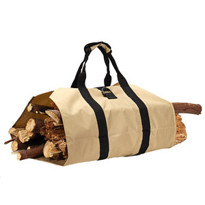 600D Oxford Draagbare Brandhout Drager Houder Hout Opslag Canvas Draagtas Outdoor Camping Accessoires