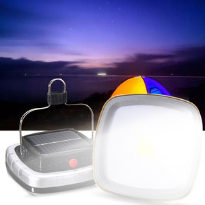 Draagbare 3W 300LM COB LED zonne-lantaarn USB oplaadbare Camping Tent licht noodverlichting