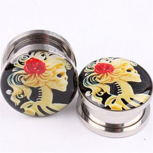 1pc Roestvrij Staal Pretty Girl Flared Ear Plugs Uitbreiding Tunnel Piercing