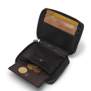 Mannen Originele Leather Card Bag Rits Coin Bag 10 Card Slots Portemonnee